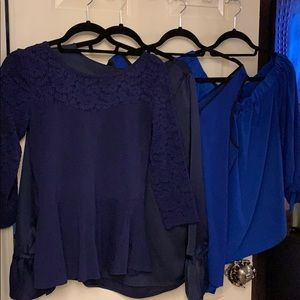 Express blue blouse lot